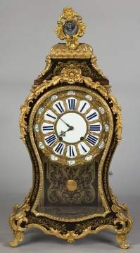 Gilt Bronze and Boulle Mantel Clock