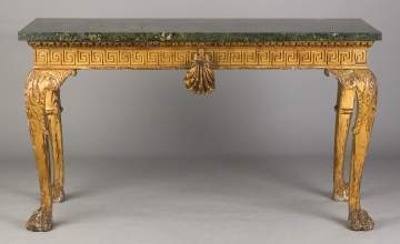 English Carved and Gilt Wood Side Table