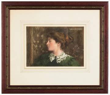 In the Manner of Henry Scott Tuke  (English, 1858-1929) Possibly by Maria Tuke, Portrait