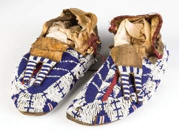 Pair of Sioux Moccasins