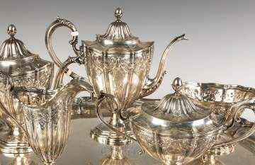 Six Piece Gorham Sterling Silver Tea Set