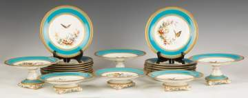 French Hand Painted Porcelain Luncheon Set