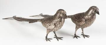 Continental Silver Table Pheasants