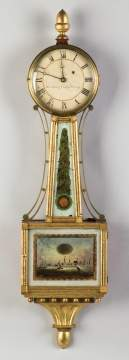 Rare Curtis and Dunning Gilt Wood Banjo Clock