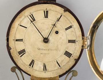 William Grant, Boston, Gilt Front Banjo Clock