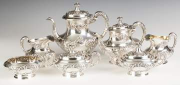 Gorham Sterling Silver Seven Piece Tea Set