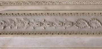 Neo-Classical Carved Marble Mantel