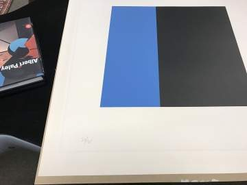 Ellsworth Kelly (American, 1923-2015) Blue and Black Square