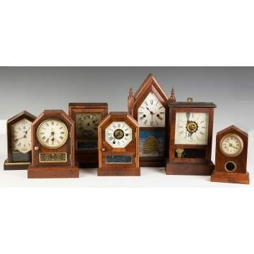 Group of Miniature Shelf Clocks