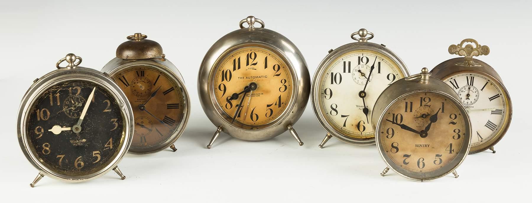 Group of Vintage Alarm Clocks | Cottone Auctions