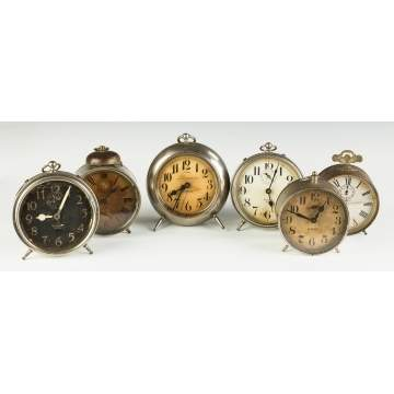 Group of Vintage Alarm Clocks