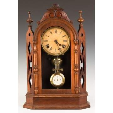 Ansonia Turret Walnut Shelf Clock