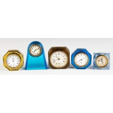 Vintage Glass Table Clocks
