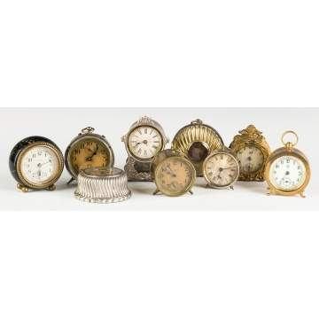 Various Miniature Clocks