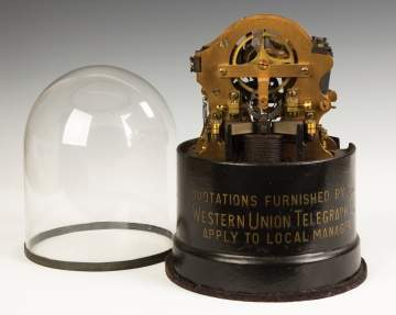 Original Thomas Edison Stock Ticker for the  Western Union Telegraph Co.