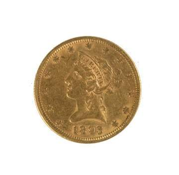1893 Ten Dollar Liberty Head Gold Coin