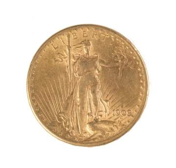 1909 St. Gaudens Twenty Dollar Gold Coin