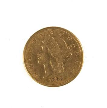 1888 Twenty Dollar Liberty Head Gold Coin