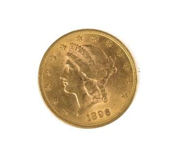 1896 Twenty Dollar Liberty Head Gold Coin