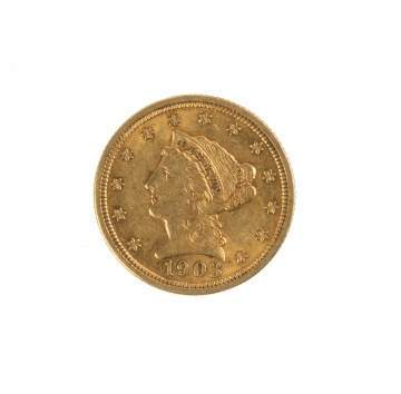 1903 Two and a Half Dollar Liberty Head Gold Coin