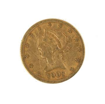 1903 Ten Dollar Liberty Head Gold Coin