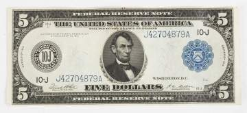 1913 Five Dollar Bill