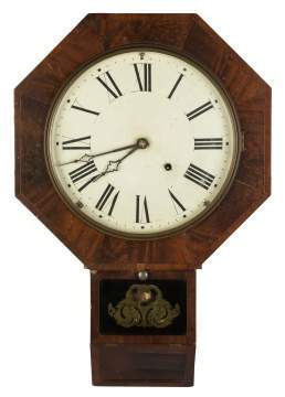 E.N. Welch Octagonal School House Clock