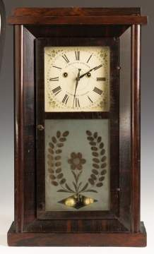 J.R. Mills and Co. Shelf Clock; A.D. Crane's  Patent