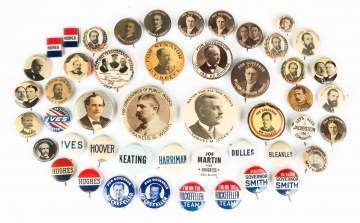 Group of Various Political Buttons