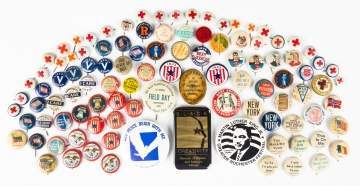 Group of Various Advertising Buttons