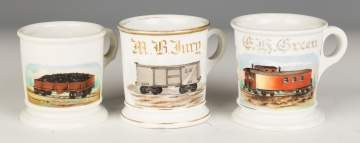Vintage Occupational Shaving Mugs