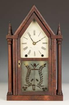 Brewster & Ingraham Four Steeple Shelf Clock,  Bristol, CT