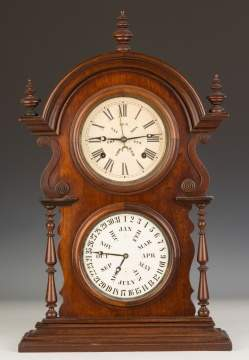 Welch Spring & Co. Double Dial Shelf Clock