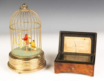 German Singing Birdcage & Swiss Music Box