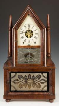 Birge & Fuller Four Steeple Shelf Clock
