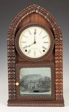 J. C. Brown Ripple Front Beehive Shelf Clock