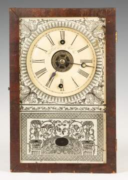 New England Clock Co. Cigar Box Shelf Clock