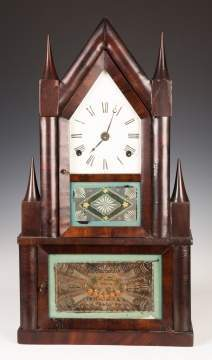 Elisha Manross Steeple on Steeple Shelf Clock