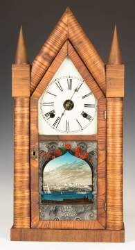 Chauncey Jerome Oversized Steeple Shelf Clock