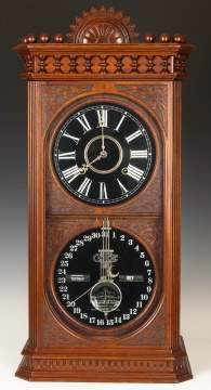 Ithaca Kildare Calendar Shelf Clock