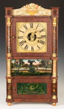 Miniature Birge, Mallory & Co.Triple Decker  Shelf Clock
