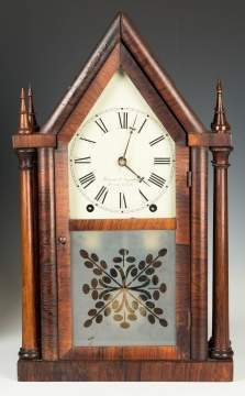 Brewster & Ingraham Four Steeple Shelf Clock