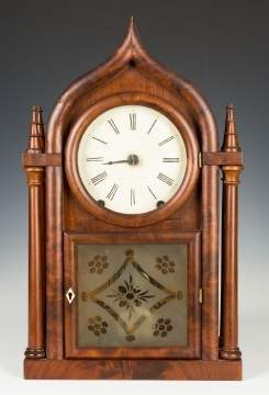 Brewster & Ingraham Four Column Onion Top Steeple Shelf Clock