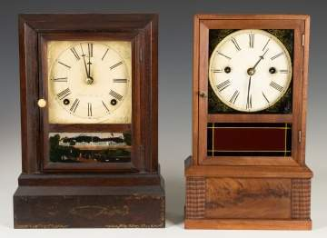 Two J.C. Brown Cottage Clocks