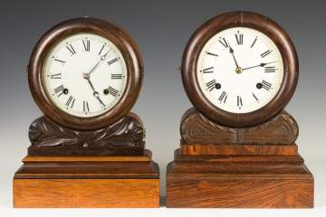 E.N. Welch Grecian Model Shelf Clocks