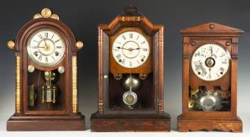 Ingraham and Two Seth Thomas Shelf Clocks