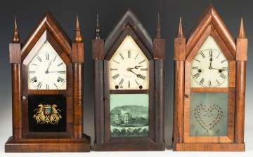 Three Steeple Shelf Clocks