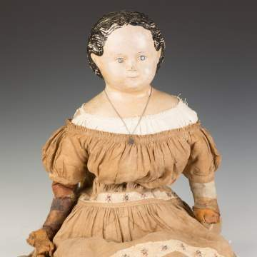 Early Paper Mache Griner Doll