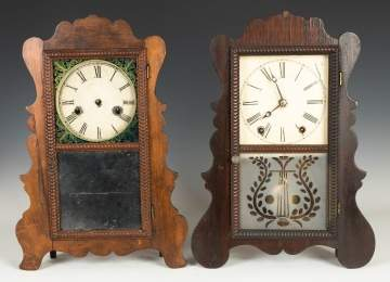 Two Victorian Shelf Clocks