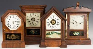 Four Rosewood Cottage Shelf Clocks
